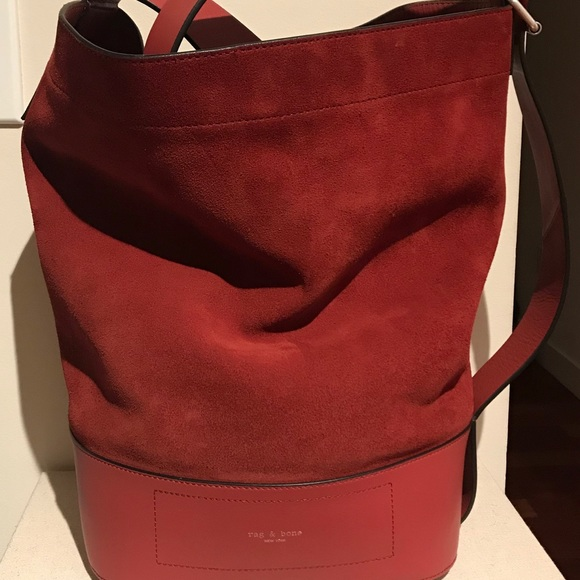 rag   bone Walker Sling Leather   Suede Bucket Bag.  M 5b0b9fb346aa7c19f0f30445 2961d2b21b573